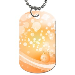 Wonderful Christmas Design With Sparkles And Christmas Balls Dog Tag (two Sides) by FantasyWorld7
