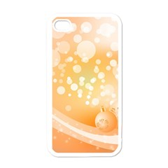 Wonderful Christmas Design With Sparkles And Christmas Balls Apple Iphone 4 Case (white) by FantasyWorld7