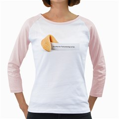 Fortune Cookie Women s Long Cap Sleeve T Shirt (white)  by typewriter