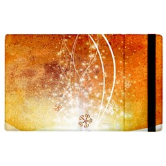 Wonderful Christmas Design With Snowflakes  Apple Ipad 2 Flip Case by FantasyWorld7
