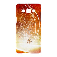 Wonderful Christmas Design With Snowflakes  Samsung Galaxy A5 Hardshell Case  by FantasyWorld7