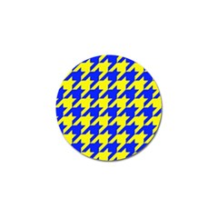 Houndstooth 2 Blue Golf Ball Marker (10 Pack) by MoreColorsinLife