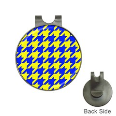 Houndstooth 2 Blue Hat Clips With Golf Markers by MoreColorsinLife