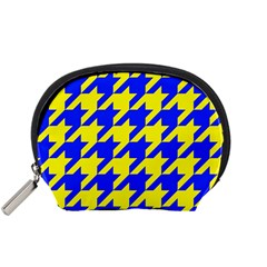 Houndstooth 2 Blue Accessory Pouches (small)  by MoreColorsinLife