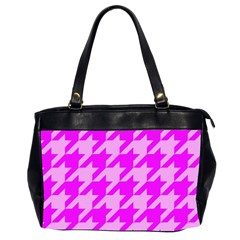Houndstooth 2 Pink Office Handbags (2 Sides)