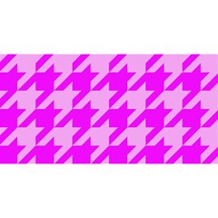 Houndstooth 2 Pink You Are Invited 3d Greeting Card (8x4)  by MoreColorsinLife