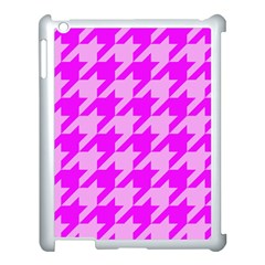 Houndstooth 2 Pink Apple Ipad 3/4 Case (white) by MoreColorsinLife