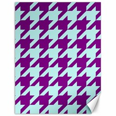 Houndstooth 2 Purple Canvas 12  X 16   by MoreColorsinLife