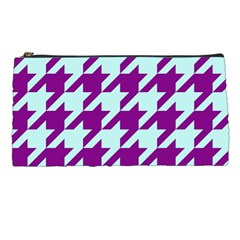 Houndstooth 2 Purple Pencil Cases