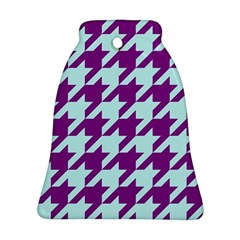 Houndstooth 2 Purple Bell Ornament (2 Sides) by MoreColorsinLife
