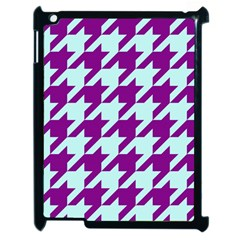 Houndstooth 2 Purple Apple Ipad 2 Case (black) by MoreColorsinLife