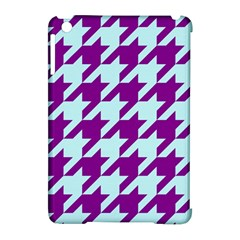 Houndstooth 2 Purple Apple Ipad Mini Hardshell Case (compatible With Smart Cover) by MoreColorsinLife