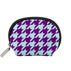 Houndstooth 2 Purple Accessory Pouches (small)  by MoreColorsinLife