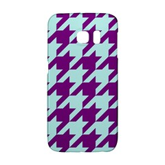 Houndstooth 2 Purple Galaxy S6 Edge