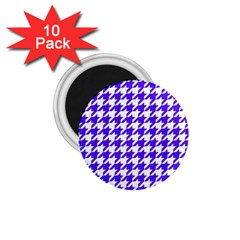 Houndstooth Blue 1 75  Magnets (10 Pack)  by MoreColorsinLife