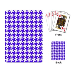Houndstooth Blue Playing Card by MoreColorsinLife