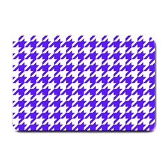 Houndstooth Blue Small Doormat  by MoreColorsinLife
