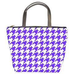 Houndstooth Blue Bucket Bags by MoreColorsinLife