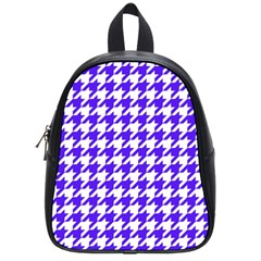 Houndstooth Blue School Bags (small)  by MoreColorsinLife