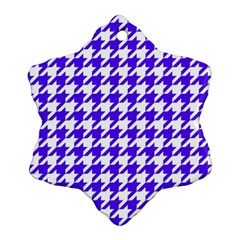 Houndstooth Blue Ornament (snowflake)