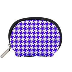 Houndstooth Blue Accessory Pouches (small)  by MoreColorsinLife