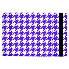 Houndstooth Blue Ipad Air Flip by MoreColorsinLife