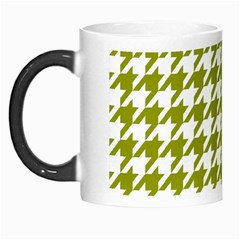 Houndstooth Green Morph Mugs by MoreColorsinLife