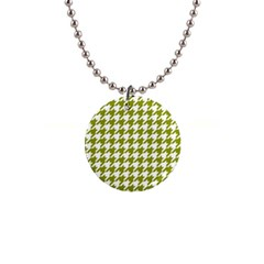 Houndstooth Green Button Necklaces by MoreColorsinLife