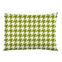 Houndstooth Green Pillow Cases by MoreColorsinLife