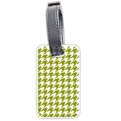 Houndstooth Green Luggage Tags (one Side)  by MoreColorsinLife