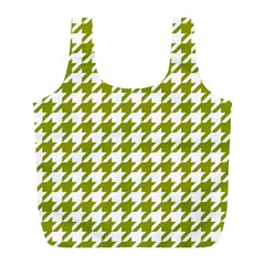 Houndstooth Green Full Print Recycle Bags (l)