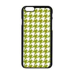 Houndstooth Green Apple Iphone 6/6s Black Enamel Case