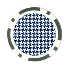 Houndstooth Midnight Poker Chip Card Guards (10 Pack)  by MoreColorsinLife