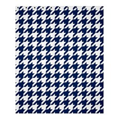 Houndstooth Midnight Shower Curtain 60  X 72  (medium)  by MoreColorsinLife