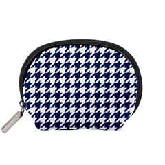 Houndstooth Midnight Accessory Pouches (small)  by MoreColorsinLife