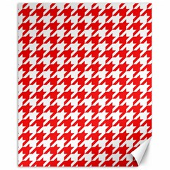 Houndstooth Red Canvas 16  X 20   by MoreColorsinLife