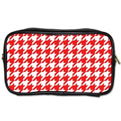 Houndstooth Red Toiletries Bags
