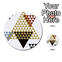 Colorful Modern Geometric Triangles Pattern Multi Purpose Cards (round)  by Dushan