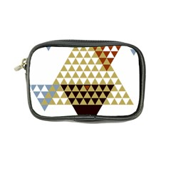 Colorful Modern Geometric Triangles Pattern Coin Purse