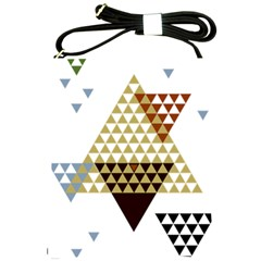 Colorful Modern Geometric Triangles Pattern Shoulder Sling Bags by Dushan