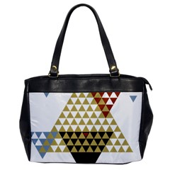 Colorful Modern Geometric Triangles Pattern Office Handbags by Dushan