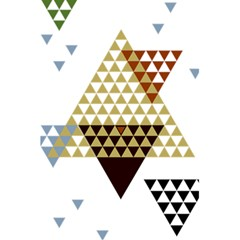 Colorful Modern Geometric Triangles Pattern 5 5  X 8 5  Notebooks by Dushan