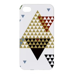 Colorful Modern Geometric Triangles Pattern Apple Iphone 4/4s Premium Hardshell Case by Dushan