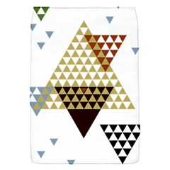 Colorful Modern Geometric Triangles Pattern Flap Covers (s)  by Dushan