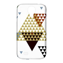 Colorful Modern Geometric Triangles Pattern Samsung Galaxy S4 Classic Hardshell Case (pc+silicone) by Dushan