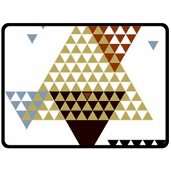 Colorful Modern Geometric Triangles Pattern Double Sided Fleece Blanket (large)
