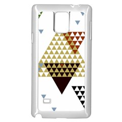 Colorful Modern Geometric Triangles Pattern Samsung Galaxy Note 4 Case (white) by Dushan