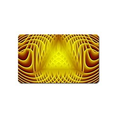 Swirling Dreams Yellow Magnet (name Card) by MoreColorsinLife