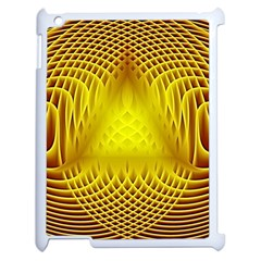 Swirling Dreams Yellow Apple Ipad 2 Case (white) by MoreColorsinLife