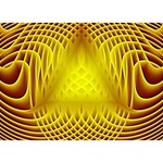Swirling Dreams Yellow BOY 3D Greeting Card (7x5) Back
